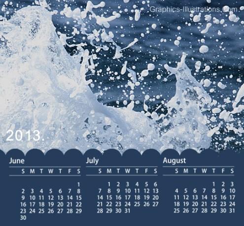 2013 calendar Photoshop Brushes Set