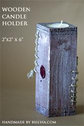 Woodden candle holder