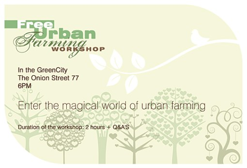 Grow Your Own Food - Workshop Flyer Design
