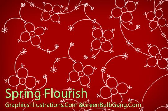 Spring Flourish Photoshop Brushes