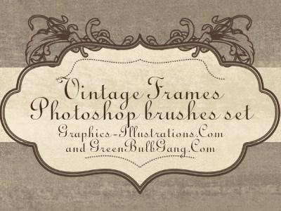Vintage Frames Photoshop Brushes