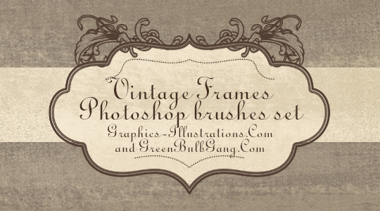 Vintage Frames Photoshop Brushes