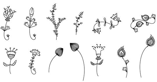 Doodle Floral Brushes