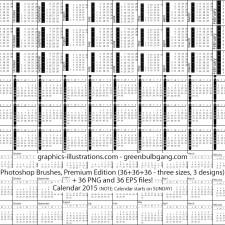 2015 Calendar Photoshop brushes set
