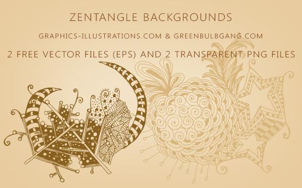 Zentangle Free Vectors, backgrounds