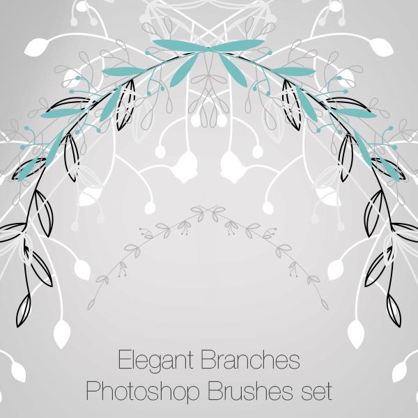 Elegant Branches Photoshop Brushes