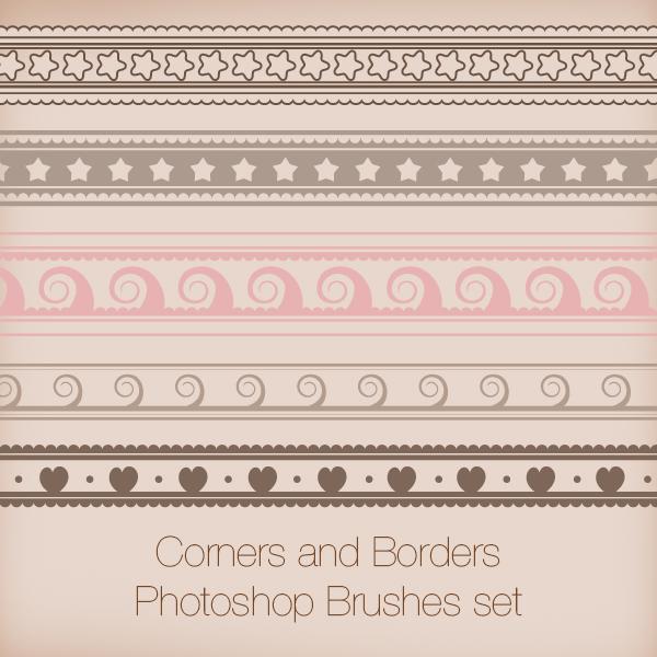 Corners and Borders Photoshop Brushes