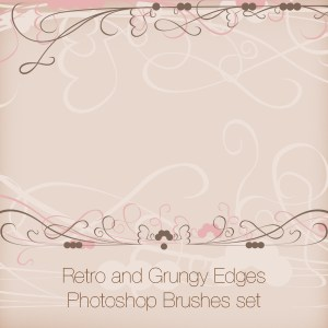 Retro and Grungy Edges Photoshop Brushes