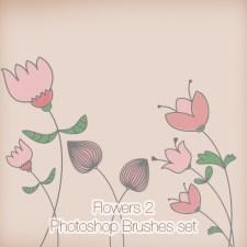 Flowers 2 Photoshop Brushes Pack
