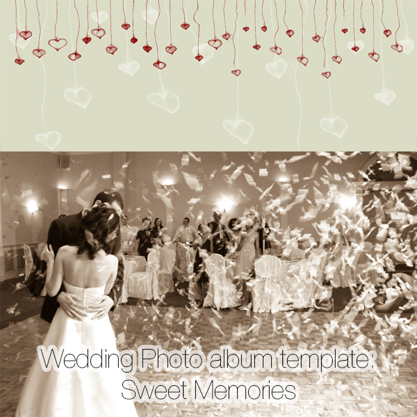Wedding Photo album template: Sweet Memories
