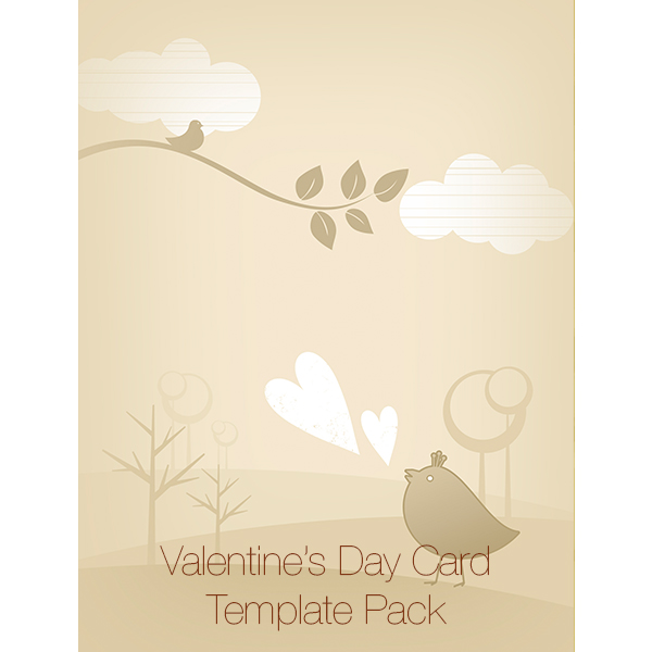 Valentine's Day Cards Design Templates Pack