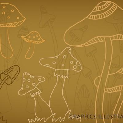Mushrooms Photoshop brushes