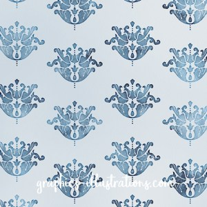 Damask Watercolor Backgrounds