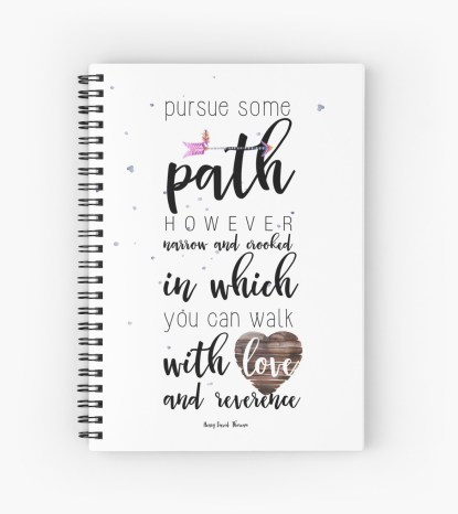 Pursue some path Spiral Notebooks