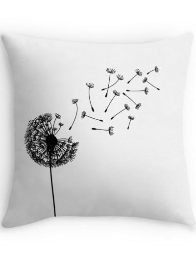 Dandelion Clip Art pillow