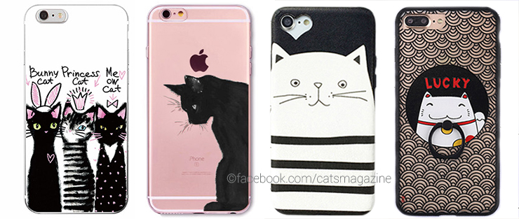 10 Cute Smartphone Cases with Cat Illustrations