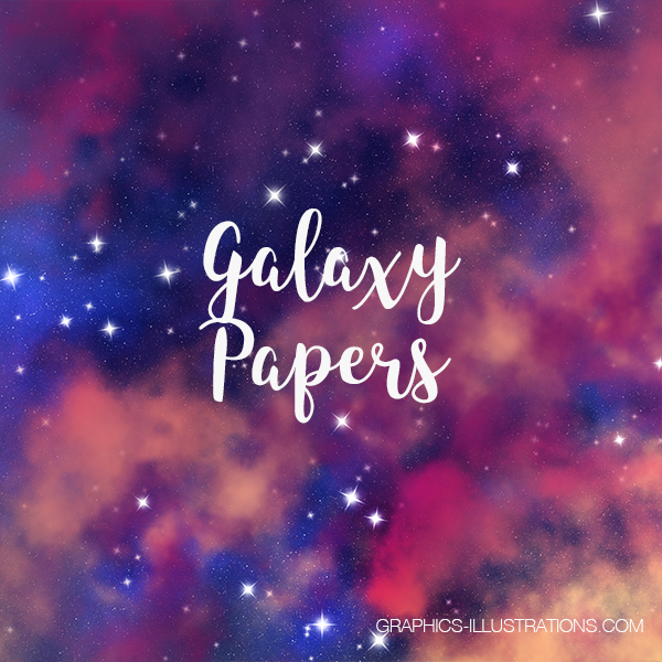 Galaxy Papers,Galaxy Backgrounds 12x12 inches