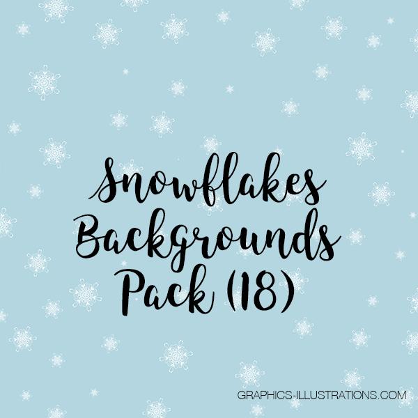 Snowflakes Digital Papers Pack
