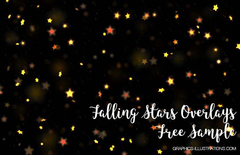 Falling Stars Photo Overlays - Free Sample