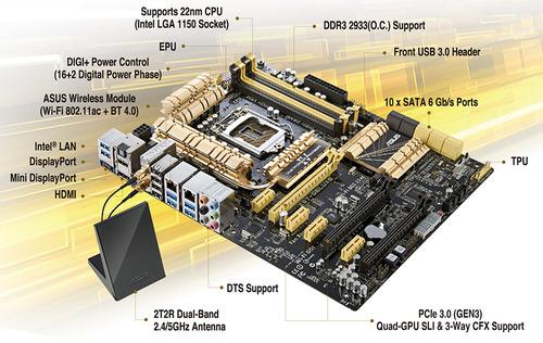 Asus Z87 Deluxe DDR3 1600 LGA 1150 Motherboard