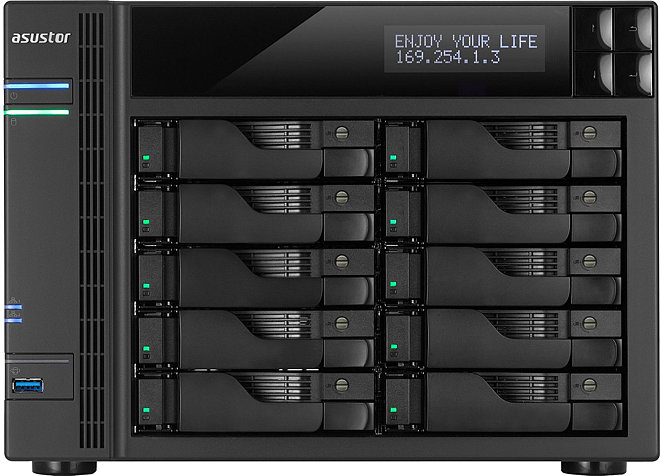 Asustor Network Attached Storage with 2, 4 and 10 Drive Bays