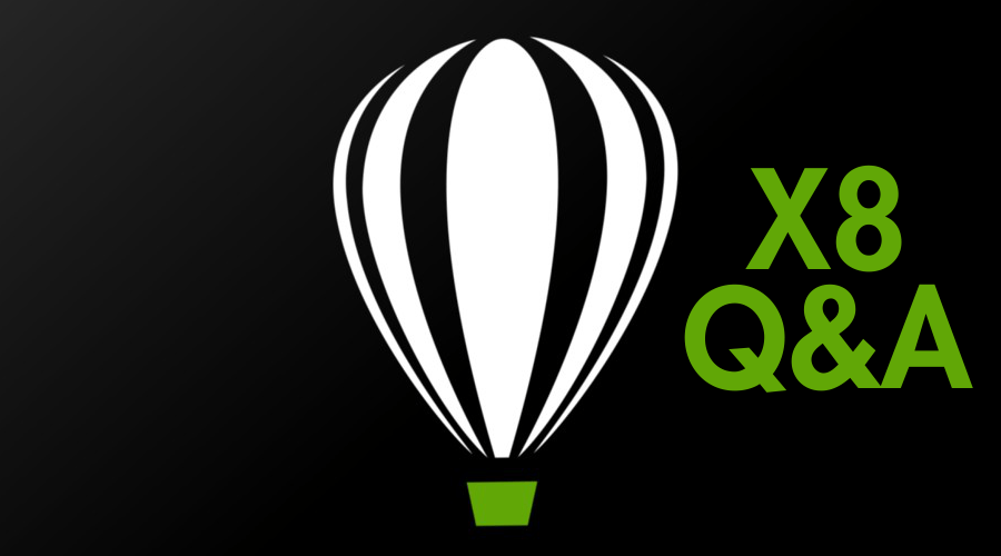 Questions and Answers About CorelDRAW X8