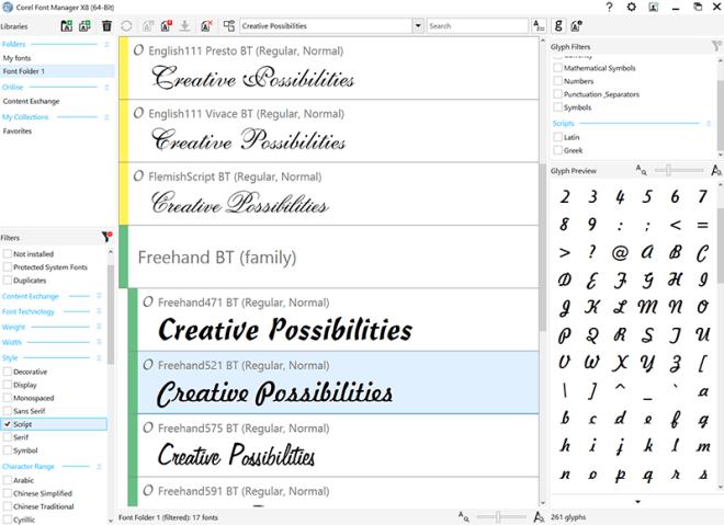 corel-font-manager