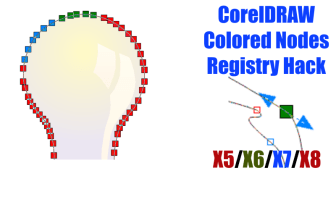 CorelDRAW Colored Nodes Registry Hack Now Supports X5, X6, X7 and X8
