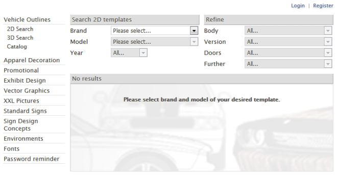 vehicle-template-search-form