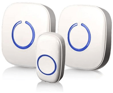 sadotech wireless doorbell with two ringers