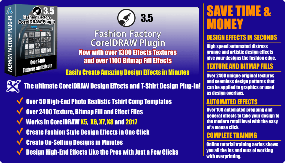 Fashion Factory CorelDRAW Plugin Updated and Price Lowered