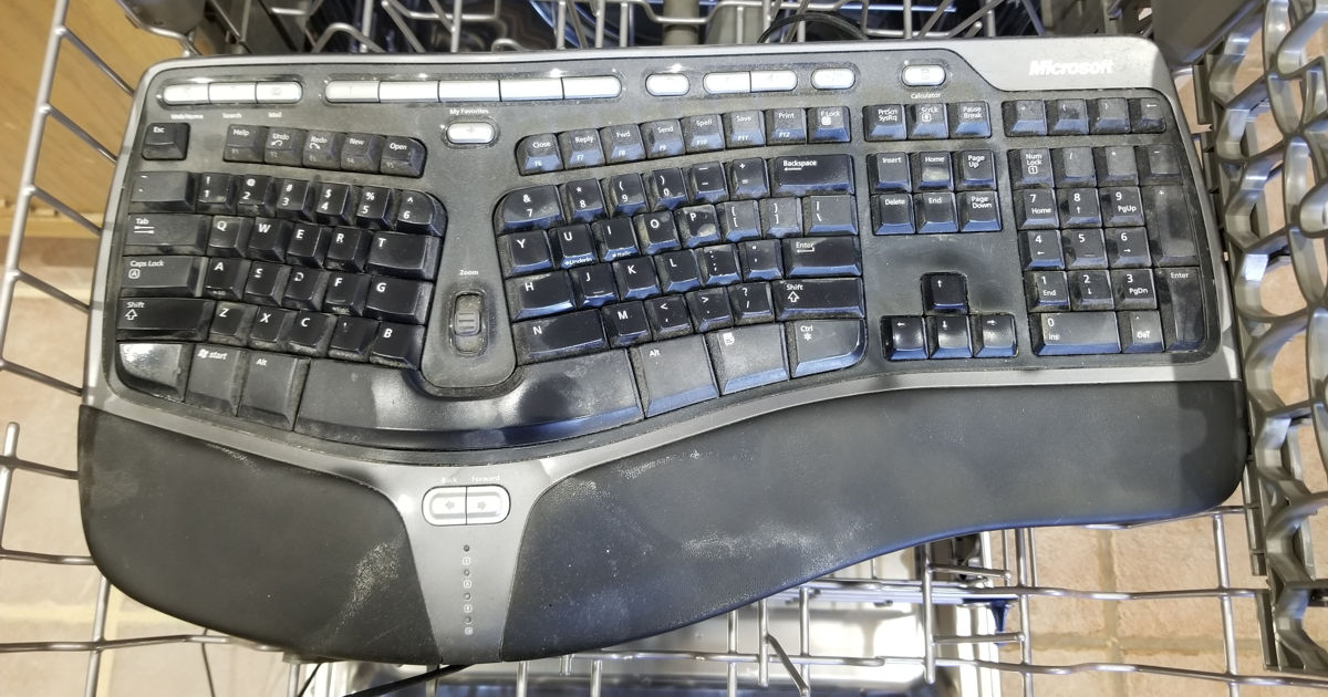 Keyboard in Dishwasher