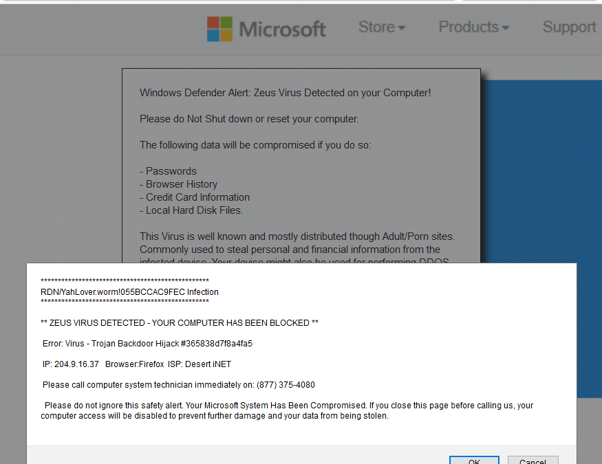 Don't Fall for a Scammy Virus Alert