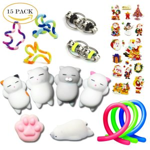 15 Pack Stress Relief Fidget Hand Toys