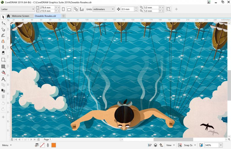 CorelDRAW Graphics Suite 2019 for Windows offers support for Windows Real-Time Stylus pen-compatible tablets and Microsoft Surface Dial, together with a tablet mode UI to optimize the interface when used on 2-in-1 computers.