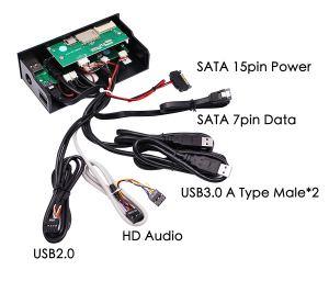 EZDIY-FAB 2-Port USB 3.0 USB 2.0 Wiring