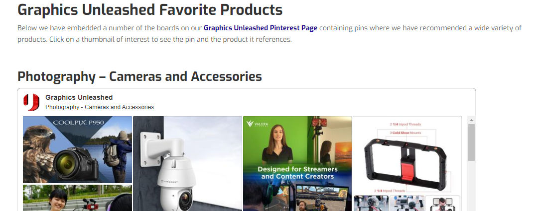 Graphics Unleashed Favorite Products