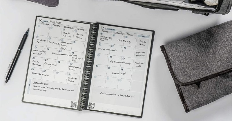 Rocketbook Panda Planner - Reusable Academic Daily Planner
