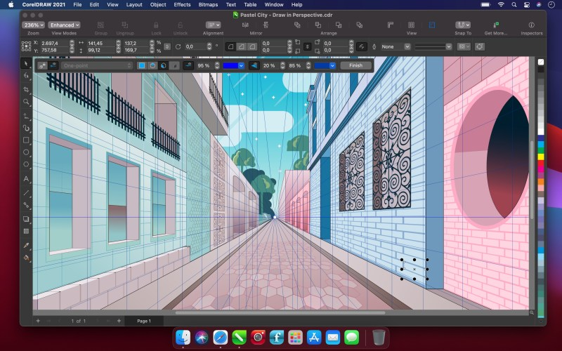 CorelDRAW Graphics Suite 2021 for Mac Perspective Drawing
