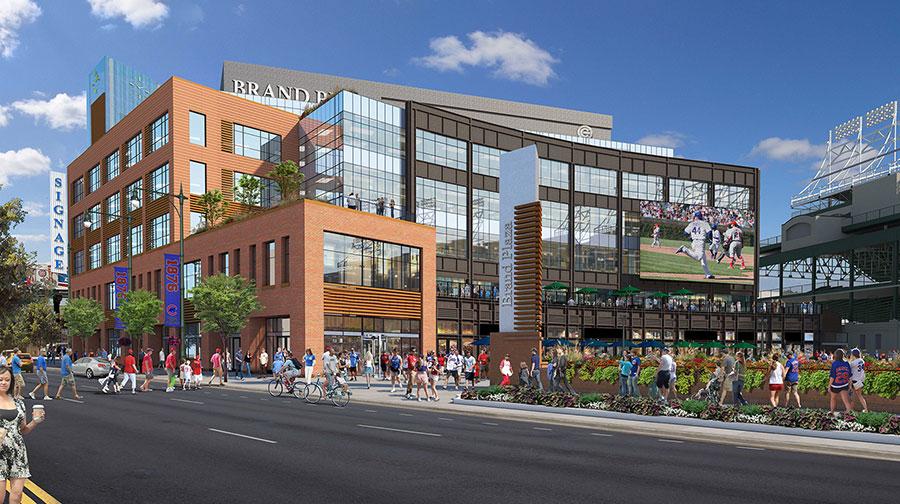 New building construction around Wrigley Field  Chicago