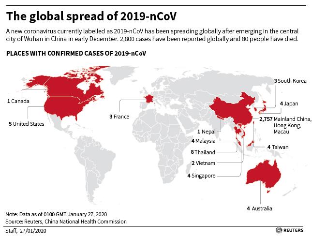Oil sinks to three-month lows as coronavirus raises demand fears ...