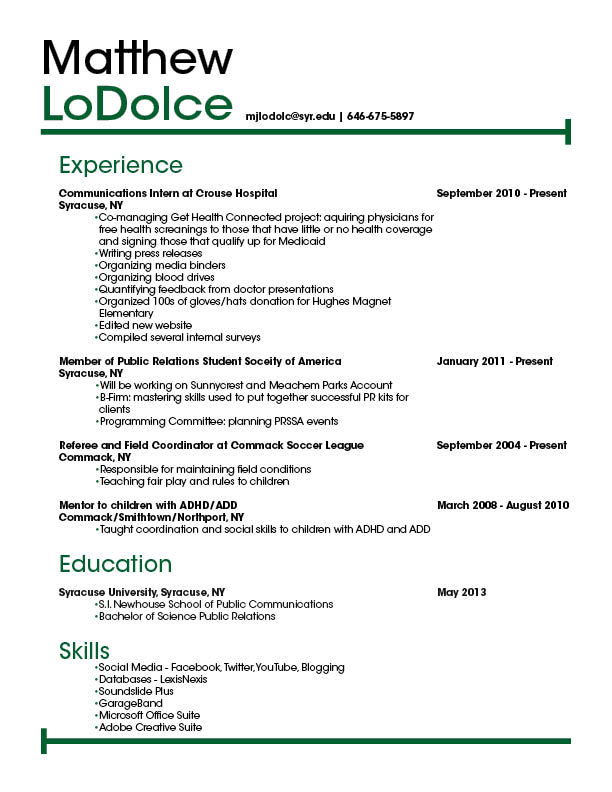 Resume  Graphics 217A