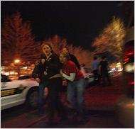People fleeing Trolley Square