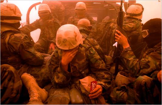 US Military in sandstroms