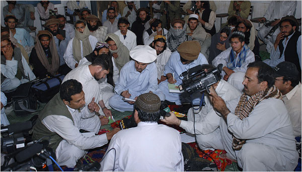 Photo Courtesy: NYT- Baitullah Mehsuds press conference