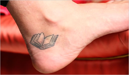 Book Tattoo (Robert Presutti for The New York Times)