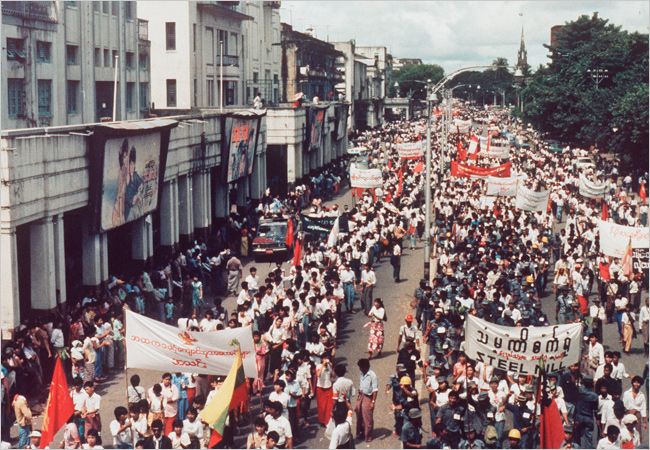Protests in Burma 1988