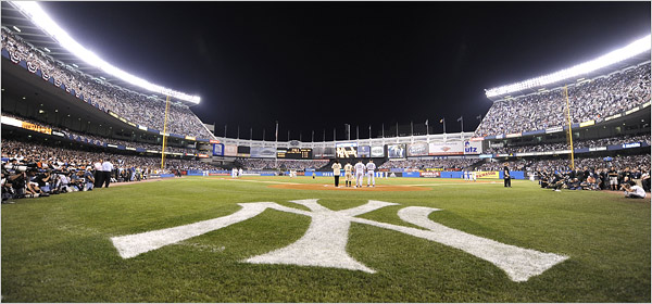 The last pre-game ceremony at Yankee Stadium