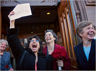 Same-Sex Marriages Begin in Connecticut