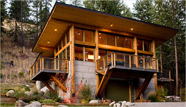 An eco-cabin near Seattle, WA.